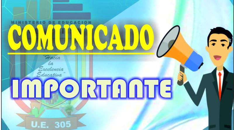 COMUNICADO PARA LOS POSTULANTES DE ENCARGATURA DE CARGOS DE MAYOR RESPONSABILIDAD