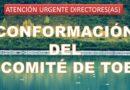 ATENCIÓN DIRECTORES(AS): CONFORMACIÓN DEL COMITÉ DE TOE