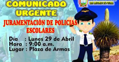 JURAMENTACIÓN DE POLICÍAS ESCOLARES 2019