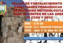 CONVOCATORIA: TALLER PARA DOCENTES DE CC.SS. Y DPCC