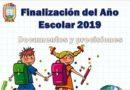 FINALIZACIÓN DEL AÑO ESCOLAR 2019