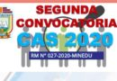 SEGUNDA CONVOCATORIA CAS 2020 – Resultado Final