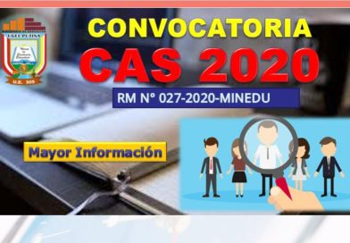 Contrato Administrativo de Servicios – CAS 2020 Resultados Hoja de Vida – Cronograma de Entrevistas y Evaluación Técnica