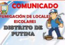 COMUNICADO: FUMIGACIÓN DE LOCALES ESCOLARES
