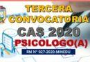 TERCERA CONVOCATORIA CAS – PSICOLOGO(A): Resultado Final