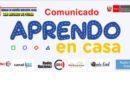 COMUNICADO: APRENDO EN CASA