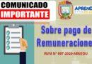 COMUNICADO: Sobre el Pago de Remuneraciones
