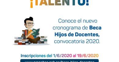 CONVOCATORIA 2020: Beca Hijos de Docentes