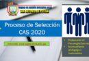 CONVOCATORIA CAS VIRTUAL SETIEMBRE 2020 – RESULTADO FINAL