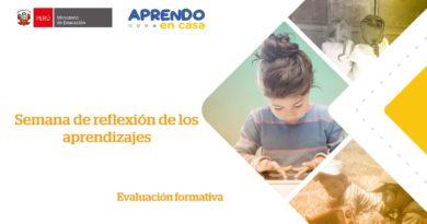 ORIENTACIONES: Semana de reflexión de los aprendizajes