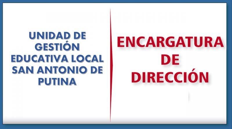PLAZAS VACANTES PARA EL PROCESO DE ENCARGO DE DIRECTIVOS DE LA UGEL SAP 2021, EN CONCORDANCIA CON LA  R.V.M. N° 255-2019 MINEDU, R.V.M 198-2020-MINEDU