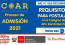 ADMISION COAR 2021