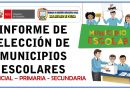 ELECCIÓN DE MUNICIPIOS ESCOLARES