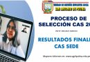 RESULTADOS FINALES  CONVOCATORIA – CAS 2021 SEDE ADMINISTRATIVA POR NECESIDAD TRANSITORIA