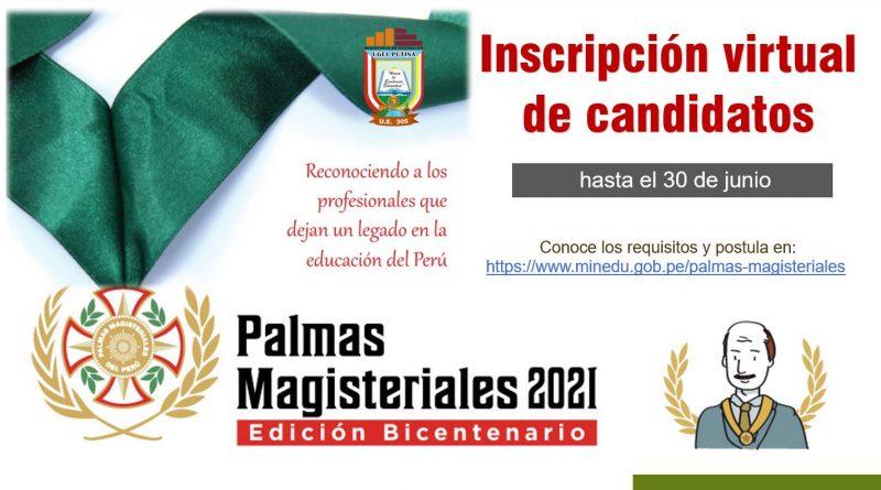 PALMAS MAGISTERIALES 2021
