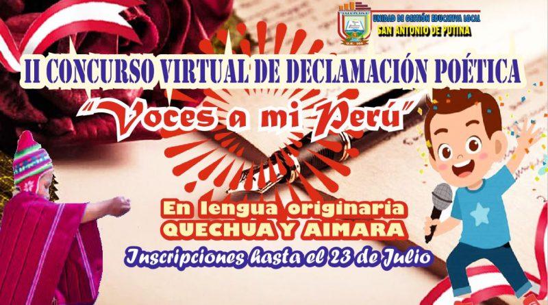 II CONCURSO VIRTUAL DE DECLAMACIÓN POÉTICA