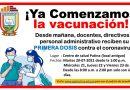 ¡Ya Comenzamos la Vacunación!
