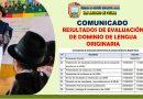 COMUNICADO: EVALUACION DE DOMINIO DE LENGUA ORIGINARIA EIB