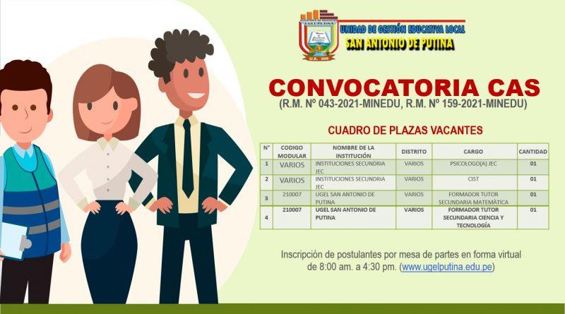 CONVOCATORIA CAS (Resultado Final)