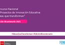 Concurso Nacional de Proyectos de Innovación Educativa 2021 – FONDEP